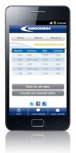 Eurochange App - Rates
